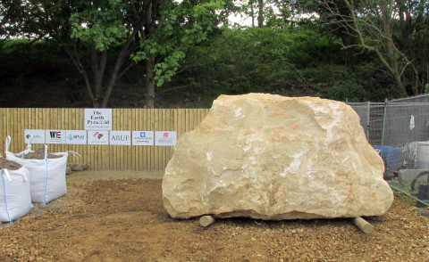 The Earth Pyramid's uncarved casing stone