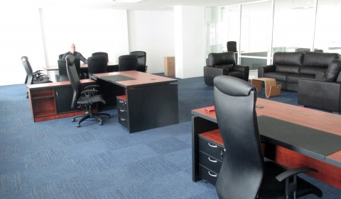 office with deslks and chairs