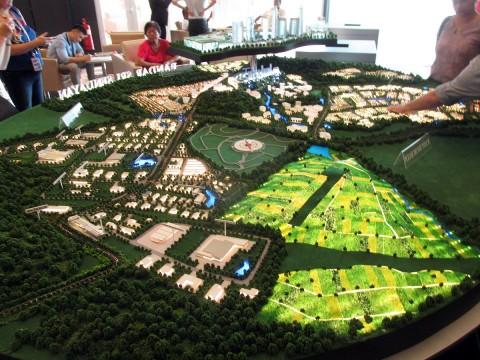 Model of the Earth Pyramid site at Sendeyan