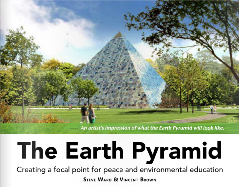 From page of the Earth Pyramid featured in an article in Origins Magazine