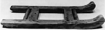 A sled made of cedar from Lisht